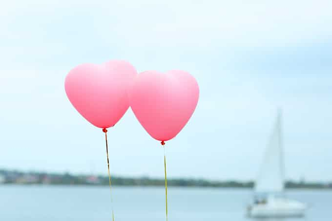 Heart-Shaped Balloons love quotes in english