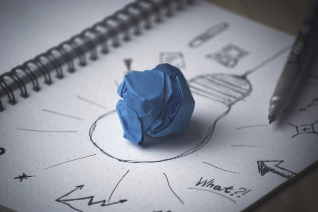 think outside the box ideas paper bulb