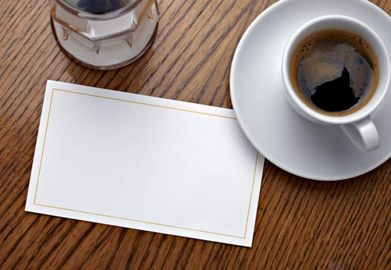 coffee and a blank invitation decline an invitation in English