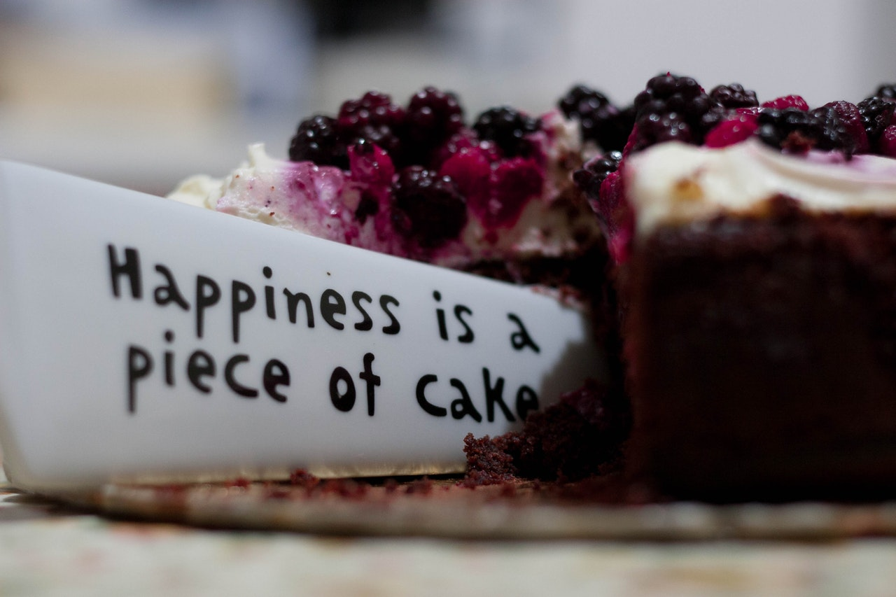 happiness is a piece of cake English idioms
