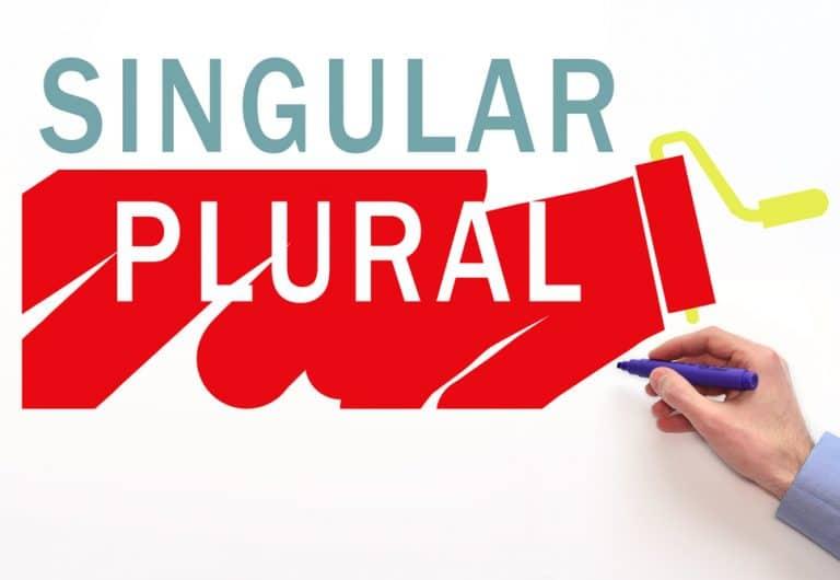 singulare plurare in inglese